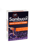 Sambucol pills box Hebrew version — Stock Photo