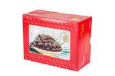Natural Dates Medjoul box — Stock Photo