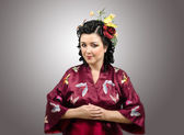Modest kimono lady — Stock Photo