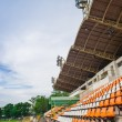 Stock Photo: Stadium and seat with blue sky