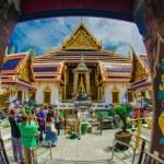 Wat Phra Kaew , Temple of the Emerald Buddha , view from door — Stock Photo #36643471