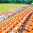 Empty Plastic Chairs at the Stadium  — Stock Photo