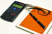 Blank notepad and accessories for secretary in the office — Stock Photo