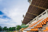 Stadium and seat with blue sky — Stock Photo