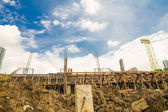 Buildings from construction zone — ストック写真