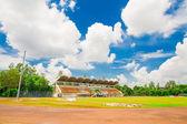 Football stadium green grass — Stock Photo