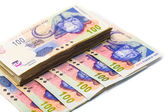 New South African 100 Rand notes — Foto Stock