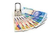 Lock and money — Stock Photo