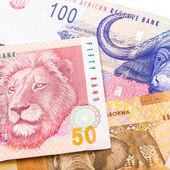 20 50 100 valuta sudafricana rand isolato su bianco retro — Foto Stock
