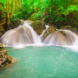 Постер, плакат: Waterfall beautiful erawan waterfall in kanchanaburi province
