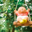 Smile puppet in garden — Stock Photo #36651933