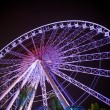 Ferris wheel  in motion at amusement park — Foto de Stock