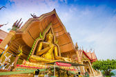 Big golden buddha statue, golden buddha statue — Foto de Stock