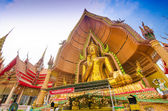 The golden Buddha Image, Wat Tum Sue, Thailand — Stock Photo
