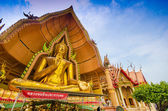 The golden Buddha Image, Wat Tum Sue — Foto Stock