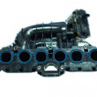 The powerful engine of the modern car, Intake Manifold — Stock Photo
