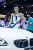 Unidentified modelling posted with BMW X6 M 50d — Стоковое фото
