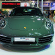 Stock Photo: Porsche 911 50th display on stage