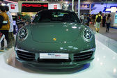 Porsche 911 50th display on stage — Zdjęcie stockowe