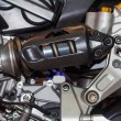 Stock Photo: Shock Absorber's motorcycle