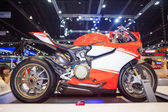 Ducati 1199 motorcycle display on stage — Stock Photo