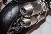 Close up of motorcycle exhaust — Stock Photo