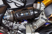 Shock Absorber's motorcycle — Stock Photo