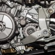 Motorcycle engine close-up detail  — Stock Photo