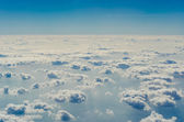 Blue sky with clouds, The upper layers of the atmosphere. — Stock Photo