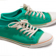 Vintage green shoes — Stock Photo