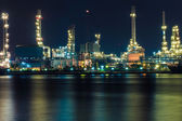 Oil refinery at night, Thailand — Stock Photo