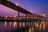 Industrial Ring Road Bridge at night — Stock Photo