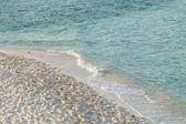 Golf van de zee op het strand — Stockfoto