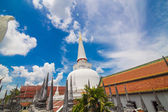 Golden pagoda in Place of worship for buddhism at southern of th — Stock Photo