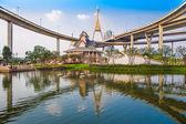 Concrete highway overpass Bhumibol Bridge in Thailand — Stock Photo