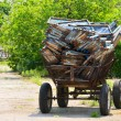 A cart with a load — Stock Photo