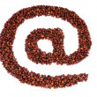 E-mail symbol is laid from coffee beans — Stock Photo #32191125