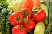 Vegetables closeup on the full background horizontal 0826 — Stok fotoğraf