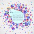 Abstract colorful background with dots and bubbles — Imagen vectorial