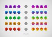 Indicators arrows color icons — Stock Vector
