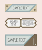 Set of cool vector labels — Stock Vector
