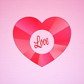 Valentine vector background with heart — Stock Vector