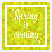 Spring is coming vector mosaic background — Wektor stockowy