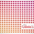 Abstract Valentines pattern background with hearts and place for text — Stock Vector