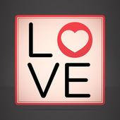 Abstrakt alla hjärtans bakgrunden med kärlek text — Stockvektor