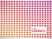 Abstract Valentines pattern background with hearts and place for text — Cтоковый вектор