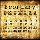 Old Calendar 2014 — 图库照片