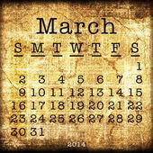 Old Calendar 2014 — Стоковое фото