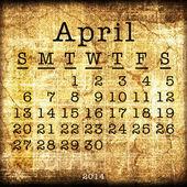 Old Calendar 2014 — Stock Photo