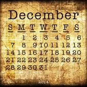 Old Calendar 2014 — Stock fotografie